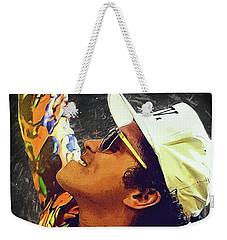 Bruno Mars Weekender Tote Bag by Semih Yurdabak