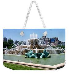 Buckingham Fountain Weekender Tote Bag by Anita Burgermeister