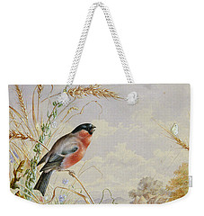 Bullfinches In A Harvest Field Weekender Tote Bag by Harry Bright