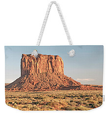 Weekender Tote Bag featuring the photograph Butte, Monument Valley, Utah by A Gurmankin
