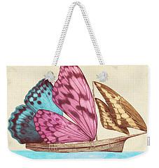 Butterfly Ship Weekender Tote Bag by Eric Fan