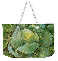 Cabbage Weekender Tote Bag by Jennifer Abbot