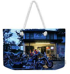 Cabbage Patch Bikers Bar Weekender Tote Bag by Kristin Elmquist
