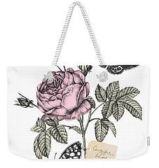 Cabbage Rose Weekender Tote Bag by Stephanie Davies