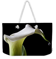 Calla Lily With Drip Weekender Tote Bag by Garry Gay
