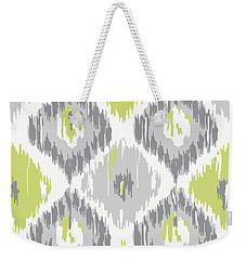 Calyx Ikat Pattern Weekender Tote Bag by Mindy Sommers