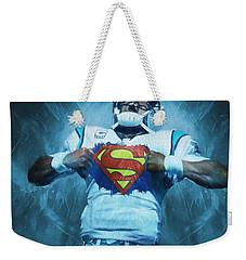 Cam Newton Superman Weekender Tote Bag by Dan Sproul