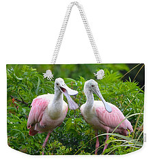 Can You Hear Me Now Weekender Tote Bag by Richard Bryce and Family