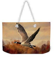 Canadian Air Weekender Tote Bag by Donna Kennedy