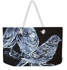 Canaries Weekender Tote Bag by Fabrizio Cassetta