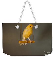 Canary On Swing Weekender Tote Bag by William J. Jahoda