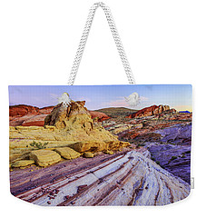 Candy Cane Desert Weekender Tote Bag by Chad Dutson