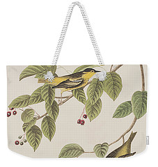 Carbonated Warbler Weekender Tote Bag by John James Audubon