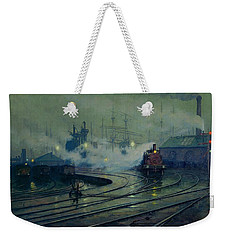 Cardiff Docks Weekender Tote Bag by Lionel Walden