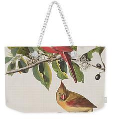 Cardinal Grosbeak Weekender Tote Bag by John James Audubon