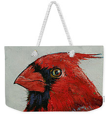 Cardinal Weekender Tote Bag by Michael Creese