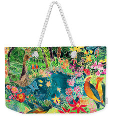 Caribbean Jungle Weekender Tote Bag by Hilary Simon