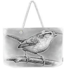 Carolina Wren Weekender Tote Bag by Greg Joens
