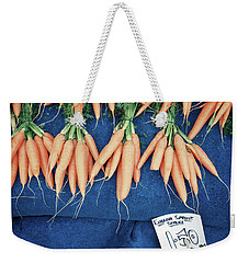 Carrots At The Market Weekender Tote Bag by Tom Gowanlock