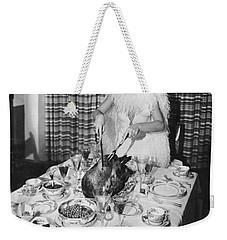 Carving The Thanksgiving Turkey Weekender Tote Bag by American School