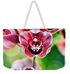 Cascading Miniature Orchids Weekender Tote Bag by Kaye Menner