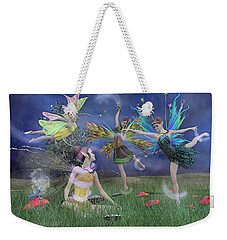 Celebration Of Night Alice And Oz Weekender Tote Bag by Betsy Knapp