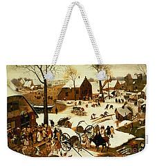 Census At Bethlehem Weekender Tote Bag by Pieter the Elder Bruegel