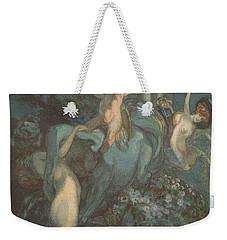 Centaur Nymphs And Cupid Weekender Tote Bag by Franz von Bayros