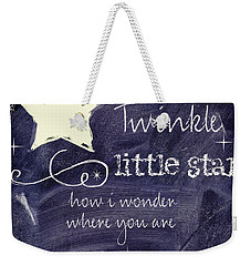 Chalk Board Nursery Rhymes Weekender Tote Bag by Mindy Sommers