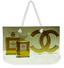 Chanel No 5 With Cc Logo Weekender Tote Bag by To-Tam Gerwe