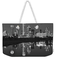 Charcoal Night In The Lone Star State Weekender Tote Bag by Frozen in Time Fine Art Photography