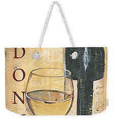 Chardonnay Wine And Grapes Weekender Tote Bag by Debbie DeWitt