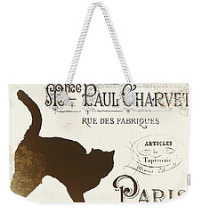 Chat Noir Paris Weekender Tote Bag by Mindy Sommers