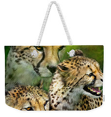 Cheetah Moods Weekender Tote Bag by Carol Cavalaris