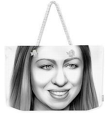 Chelsea Clinton Weekender Tote Bag by Greg Joens