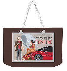 Cheshire Poster Weekender Tote Bag by Eric Jackson