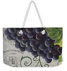 Vins De Champagne 2 Weekender Tote Bag by Debbie DeWitt