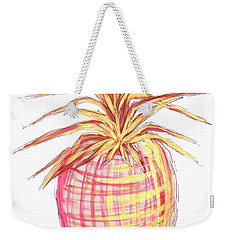Chic Pink Metallic Gold Pineapple Fruit Wall Art Aroon Melane 2015 Collection By Madart Weekender Tote Bag by Megan Duncanson
