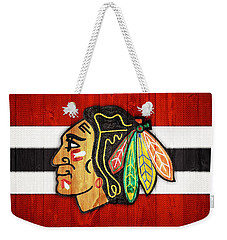 Chicago Blackhawks Barn Door Weekender Tote Bag by Dan Sproul