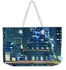 Chicago Bridges Weekender Tote Bag by Steve Gadomski