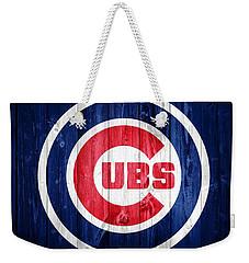 Chicago Cubs Barn Door Weekender Tote Bag by Dan Sproul
