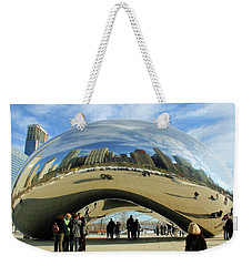 Chicago Reflected Weekender Tote Bag by Kristin Elmquist