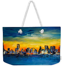 Chicago Skyline Weekender Tote Bag by Elise Palmigiani