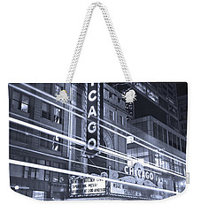 Chicago Theater Marquee B And W Weekender Tote Bag by Steve Gadomski