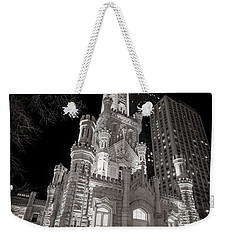 Chicago Water Tower Weekender Tote Bag by Adam Romanowicz
