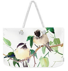 Chickadees Weekender Tote Bag by Suren Nersisyan