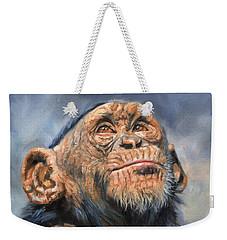 Chimp Weekender Tote Bag by David Stribbling