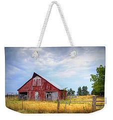 Christian School Road Barn Weekender Tote Bag by Cricket Hackmann
