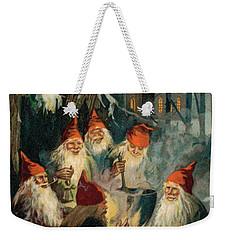 Christmas Gnomes Weekender Tote Bag by English School