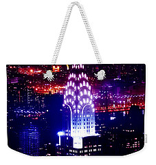 Chrysler Building At Night Weekender Tote Bag by Az Jackson